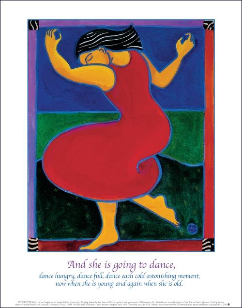P720  Red Dress Dancing